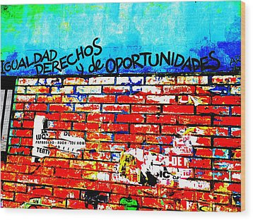 Give Us Equal Rights And Opportunities ...on Santiago Walls Wood Print
