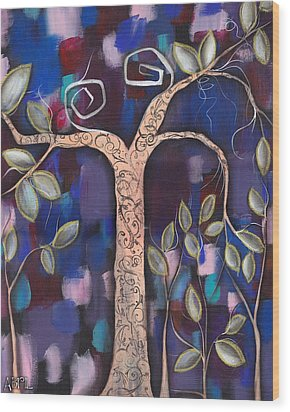 Giver Of Life Wood Print by  Abril Andrade Griffith
