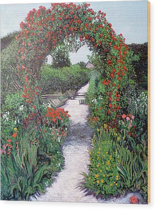 Giverney Garden Path Wood Print by Tom Roderick