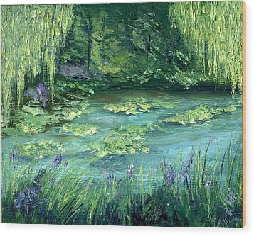 Wood Print featuring the painting Giverny by Gail Kirtz
