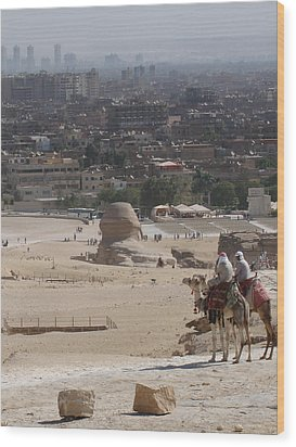 Giza To Cairo Wood Print