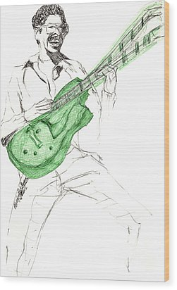 Gj Guitar  Wood Print
