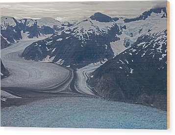 Glacial Curves Wood Print by Mike Reid
