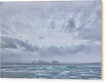 Glacial Lagoon Iceland Wood Print