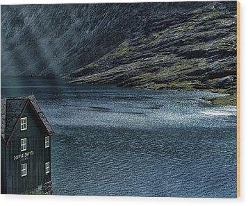 Glacial Lake Wood Print by Jim Hill