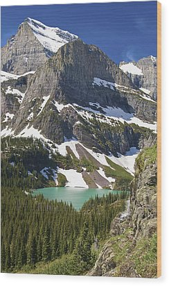 Glacier Backcountry Wood Print