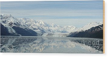 Glacier Bay Reflections Wood Print