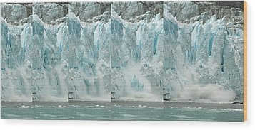 Glacier Calving Sequence 2 V1 Wood Print by Robert Shard