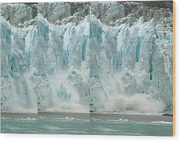 Glacier Calving Sequence 2 V2 Wood Print by Robert Shard
