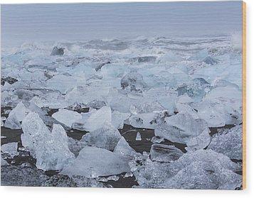 Glacier Ice Wood Print