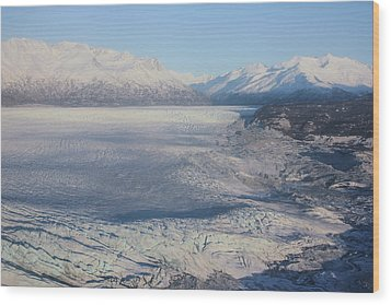 Wood Print featuring the photograph Glacier In Alaska by Jingjits Photography