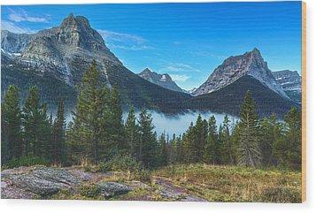 Glacier Mountains Wood Print by Stuart Deacon