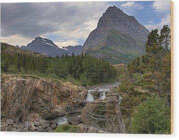 Glacier National Park Landscape Wood Print by Alan Toepfer