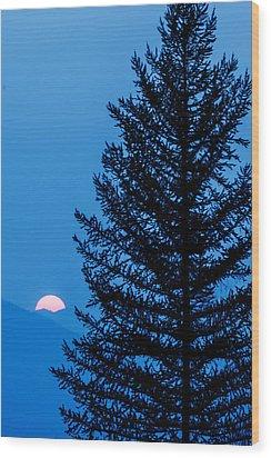 Glacier National Park Sunset Blue Wood Print