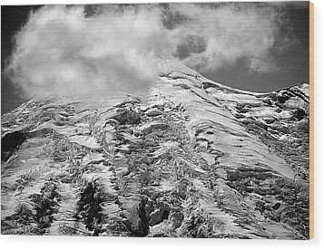 Wood Print featuring the photograph Glacier On Mt Rainier by Lori Seaman