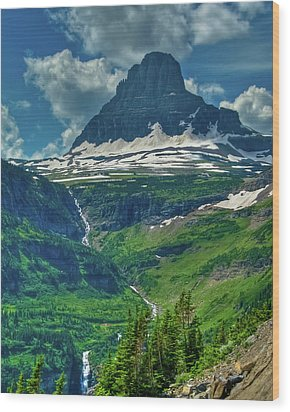 Glacier Park Valley View Wood Print by Harry Strharsky