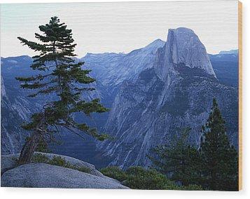 Glacier Point Wood Print