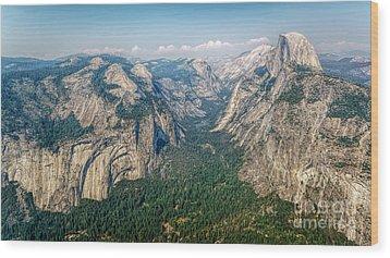 Glacier Point Yosemite Np Wood Print