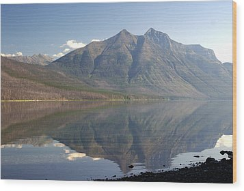 Glacier Reflection1 Wood Print by Marty Koch