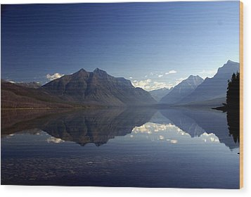 Glacier Reflections 2 Wood Print by Marty Koch