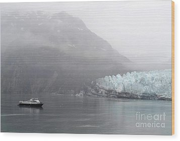 Glacier Ride Wood Print by Zawhaus Photography