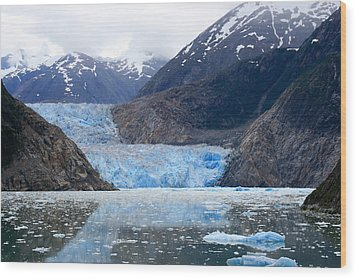 Glacier Wood Print by Shirin Shahram Badie