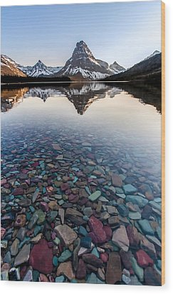 Wood Print featuring the photograph Glacier Skittles by Aaron Aldrich