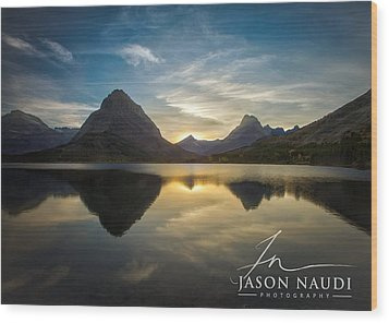 Wood Print featuring the photograph Glacier Sunset by Jason Naudi