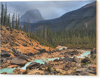 Wood Print featuring the photograph Glacier Waters Flowing Through Yoho National Park by Adam Jewell