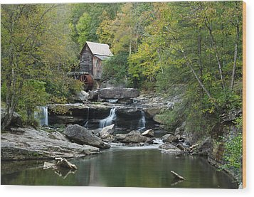 Wood Print featuring the photograph Glade Creek Grist Mill by Ann Bridges