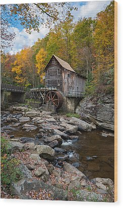 Glade Creek Grist Mill Babcock State Park Wood Print