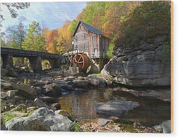 Wood Print featuring the photograph Glade Creek Grist Mill by Steve Stuller
