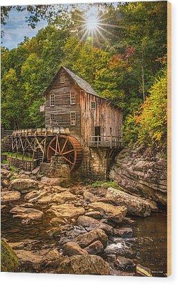 Glade Creek Mill Fall Wood Print