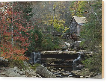 Glade Creek Mill Wood Print