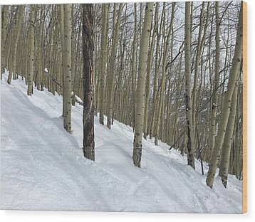 Gladed Run Wood Print