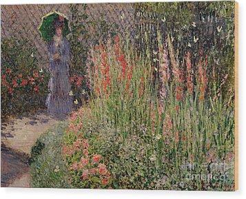 Gladioli Wood Print by Claude Monet