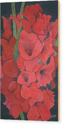 Glads Wood Print by Dwight Williams