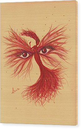 Wood Print featuring the drawing Glare by Dawn Fairies
