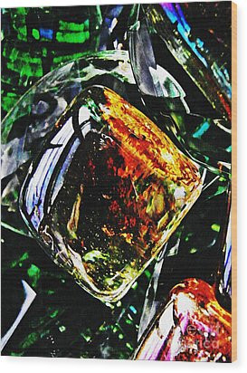 Glass Abstract 160 Wood Print by Sarah Loft