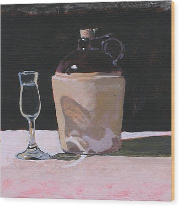 Glass And Jug Wood Print by Robert Bissett