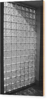 Glass Brick Window Wood Print by Tony Grider