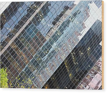 Glass Buildings 4 Wood Print by Robert Knight