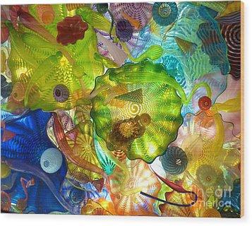 Glass Ceiling 2 Wood Print