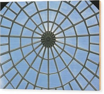 Glass Dome At Hall Of Liberation At Kelheim  Wood Print by Lori Seaman