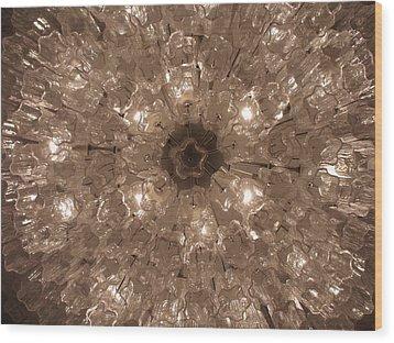 Glass Flower Wood Print by Anna Villarreal Garbis