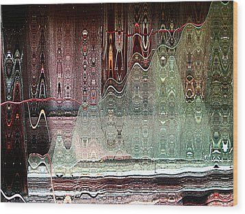 Glass House Wood Print by Shirley Sirois