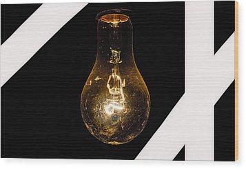 Glass Light Art Wood Print