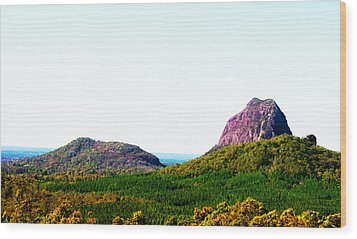 Glass Mountains - Extinct Volcanos Wood Print by Susan Vineyard