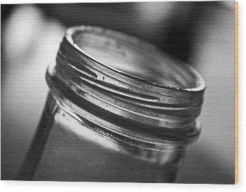 Glass Mouth Wood Print by Kristen Vota