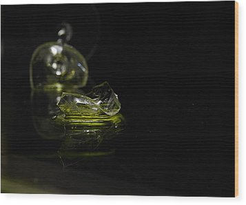 Wood Print featuring the photograph Glass Shard by Susan Capuano